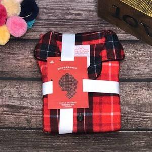 NWT- Wondershop Red Plaid Toddler Pajamas 2 Pc Set